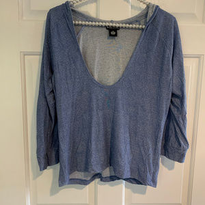 Wet Seal Deep V Neck Hoodie Top